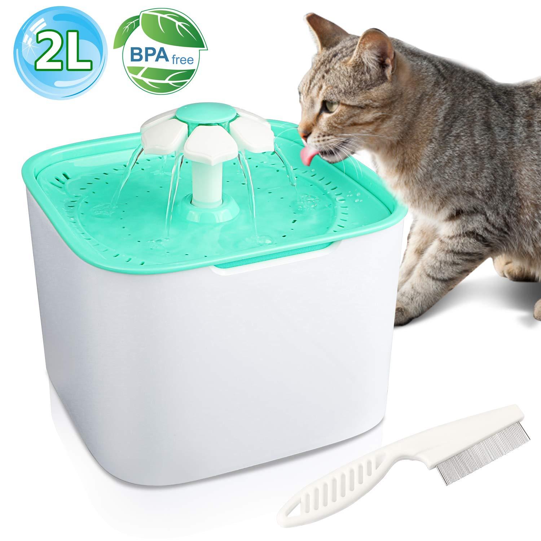 bebedero para gatos automatico electrico, pequeño, en color turquesa libre de BPA