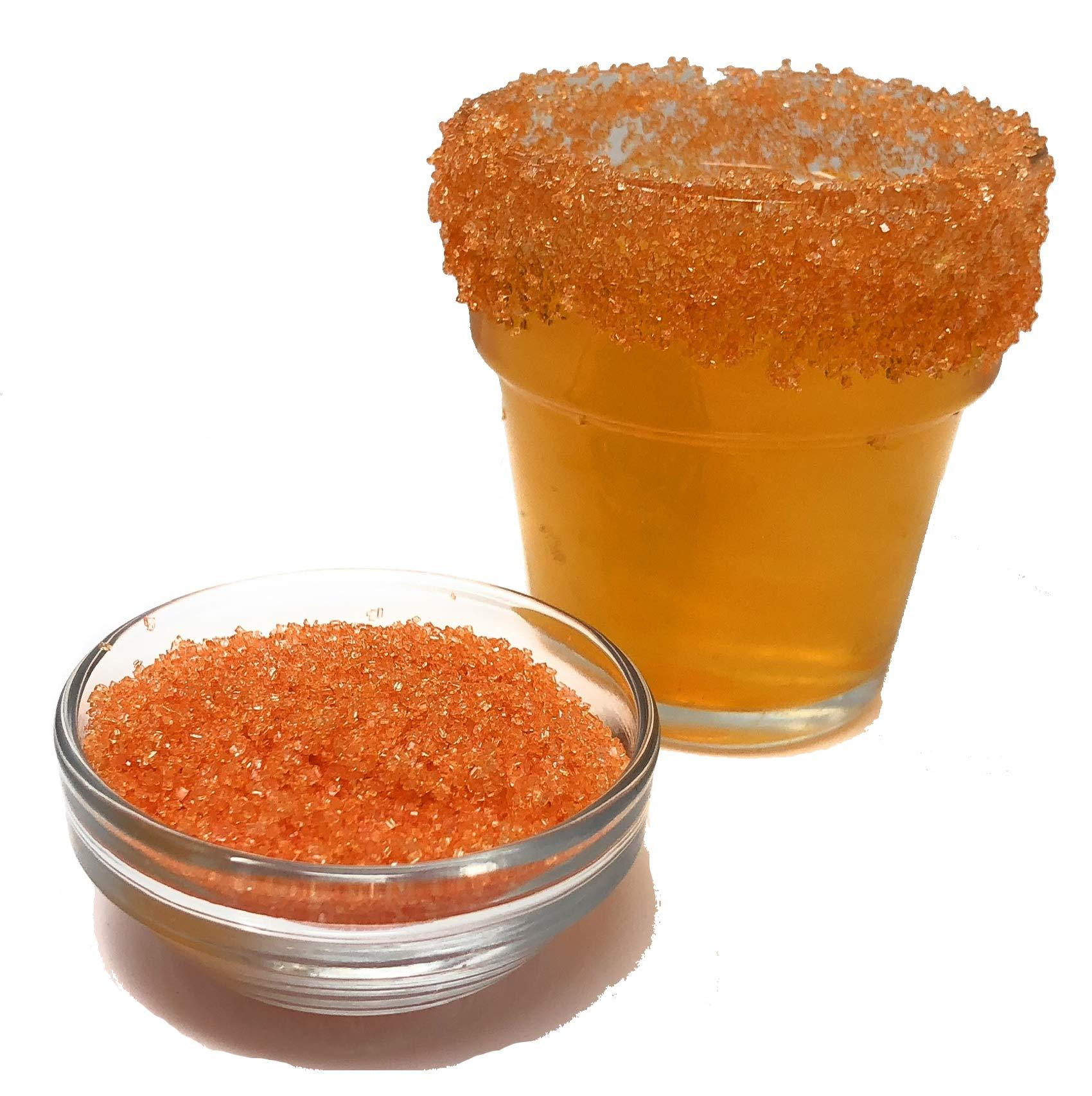 Snowy River Orange Cocktail Rimmer - Kosher Certified Natural Orange Colored Cocktail Sugar (5lb)