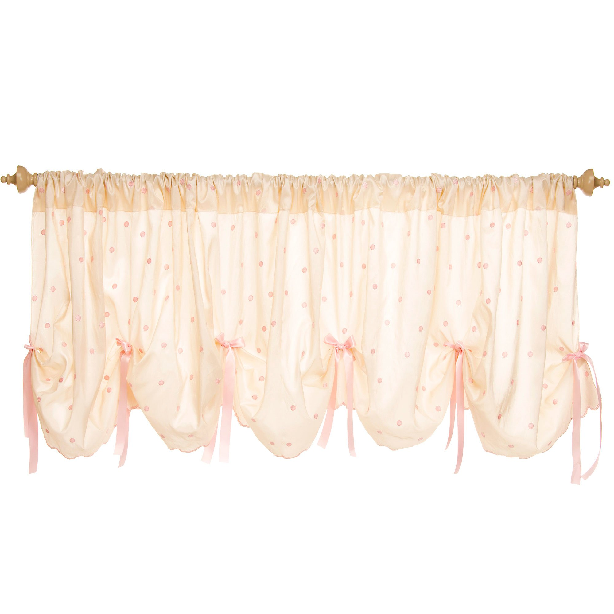 Charlotte 92 Inch Wide Scalloped Window Valance by Glenna Jean