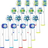 Oral B Replacement Toothbrush Heads, iTrunk 16 Pack Electric Toothbrush Heads Compatible with Pro 3000 Pro 5000 Pro 7000, Includes 4 Precision Clean, 4 Floss Action, 4 Cross Action & 4 3D White