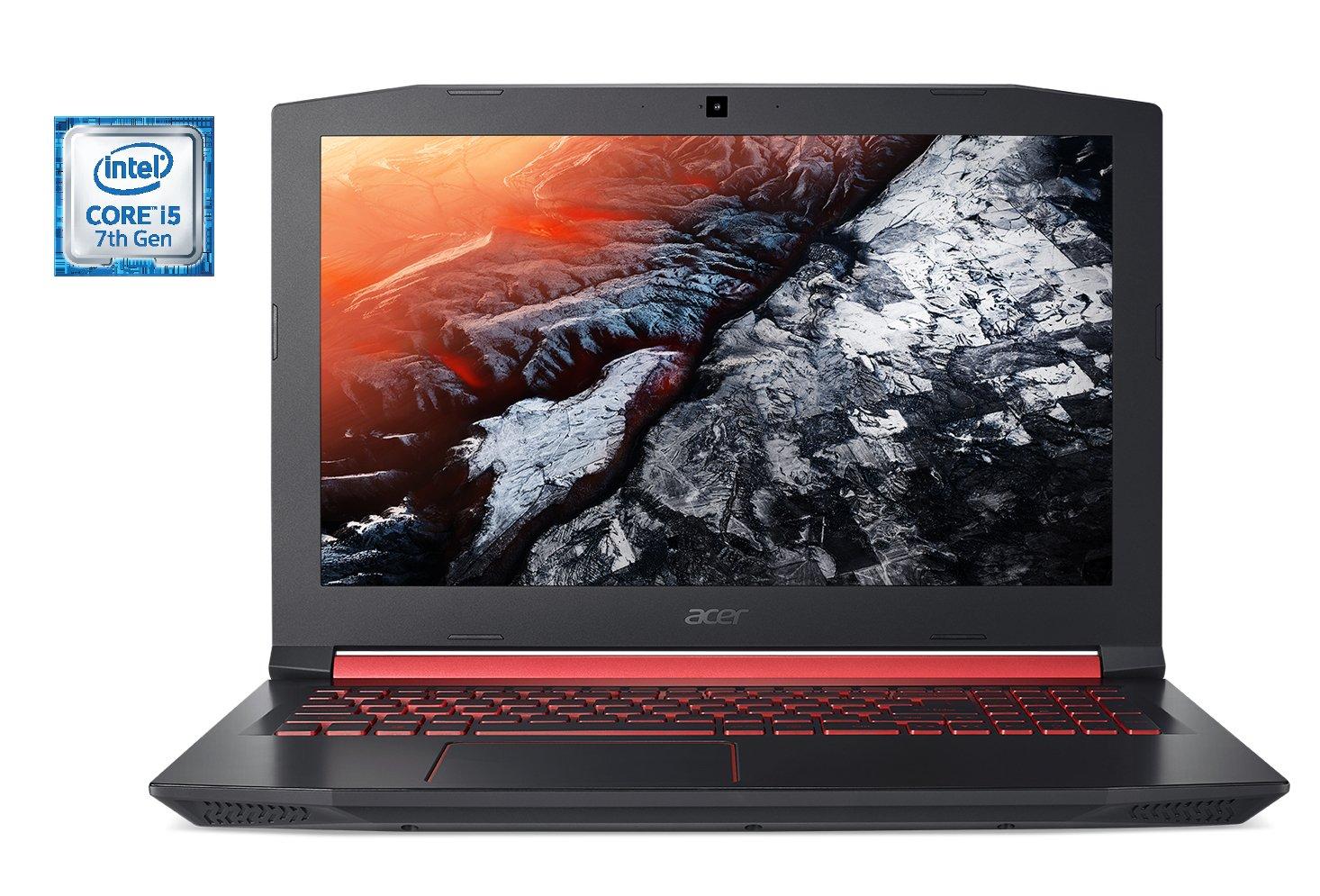 Acer Nitro 5 Gaming Laptop, Intel Core i5-7300HQ, GeForce GTX 1050 Ti, 15.6'' Full HD, 8GB DDR4, 256GB SSD, AN515-51-55WL by Acer