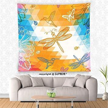 Amazon.com: VROSELV custom tapestry Batik Decor Tapestry Geometric ...