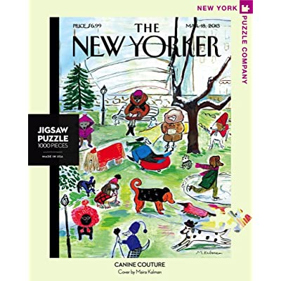 New York Puzzle Company - New Yorker Canine Couture - 1000 Piece Jigsaw Puzzle: Toys & Games