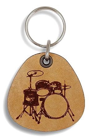 Amazon.com: forleathermore – Drums – Llavero de piel ...