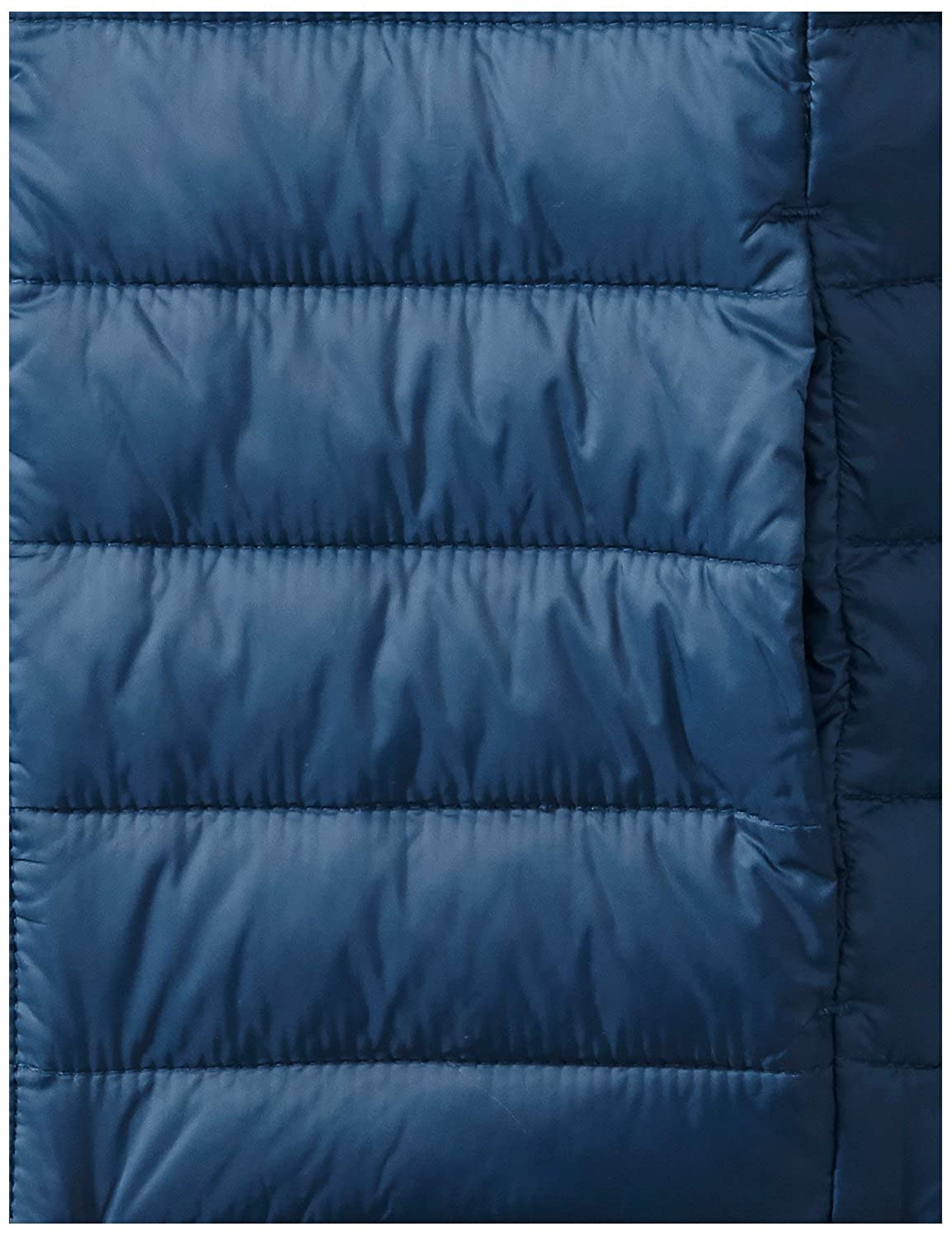 Large Navy Essentials Big Boys Water-Resistant Packable Hooded Puffer Jacket Outerwear
