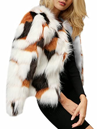 e3a196c22bcb BerryGo Women's Chic Long Sleeve Fluffy Faux Fur Coat Outwear at Amazon  Women's Coats Shop