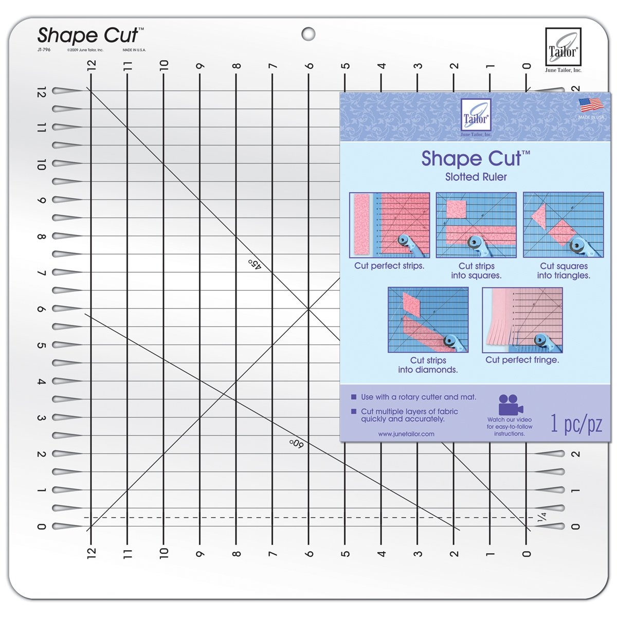 June Tailor Shape Cut Ruler by June Tailor