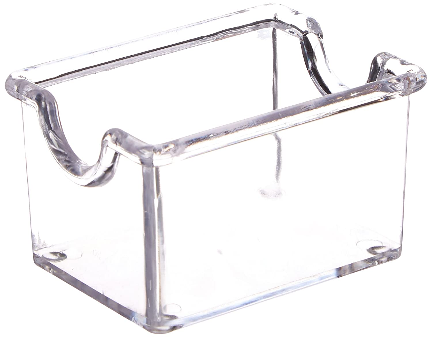 New Star Foodservice 28447 Plastic Sugar Packet Holder, Clear, Set of 12