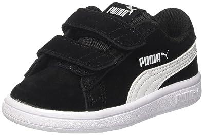 new style 55756 26b2f Puma Smash v2 SD V Inf, Sneakers Basses Mixte Enfant, Noir Black White,