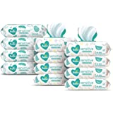 Baby Wipes, Pampers Sensitive Water Based Baby Diaper Wipes, Hypoallergenic and Unscented, 8 Pop-Top Packs with 4 Refill Pack