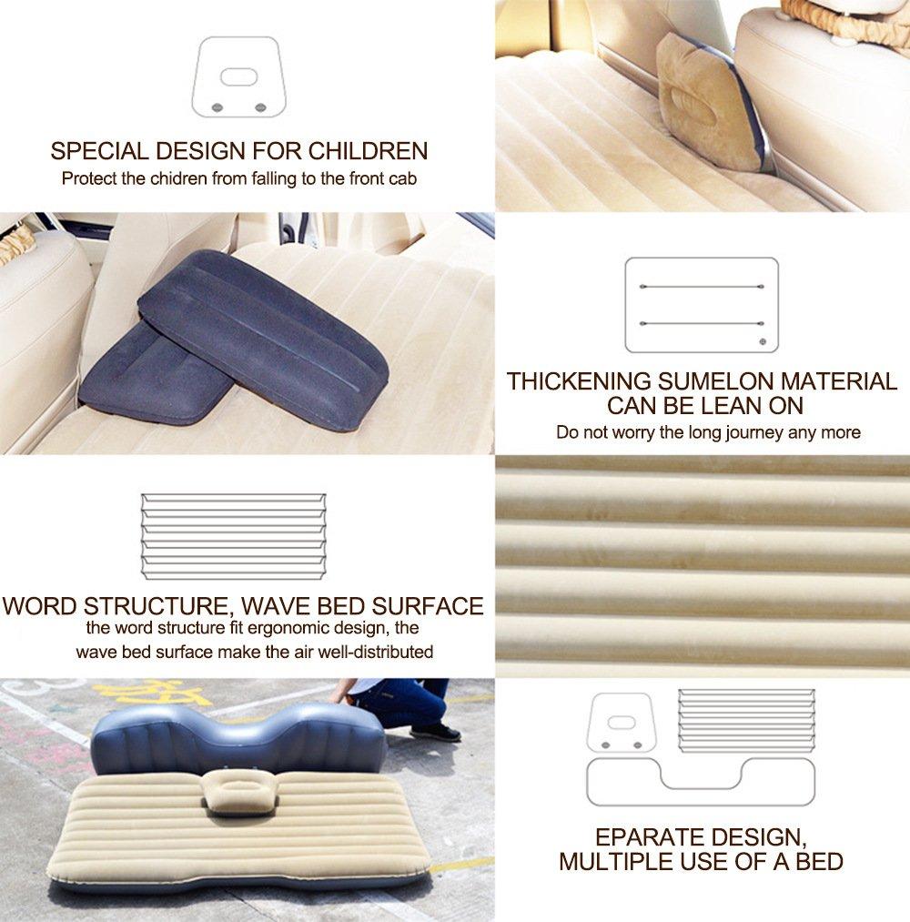 aufblasbare reise camping auto sitz schlaf rest matratze luftmatratze f r auto ebay. Black Bedroom Furniture Sets. Home Design Ideas