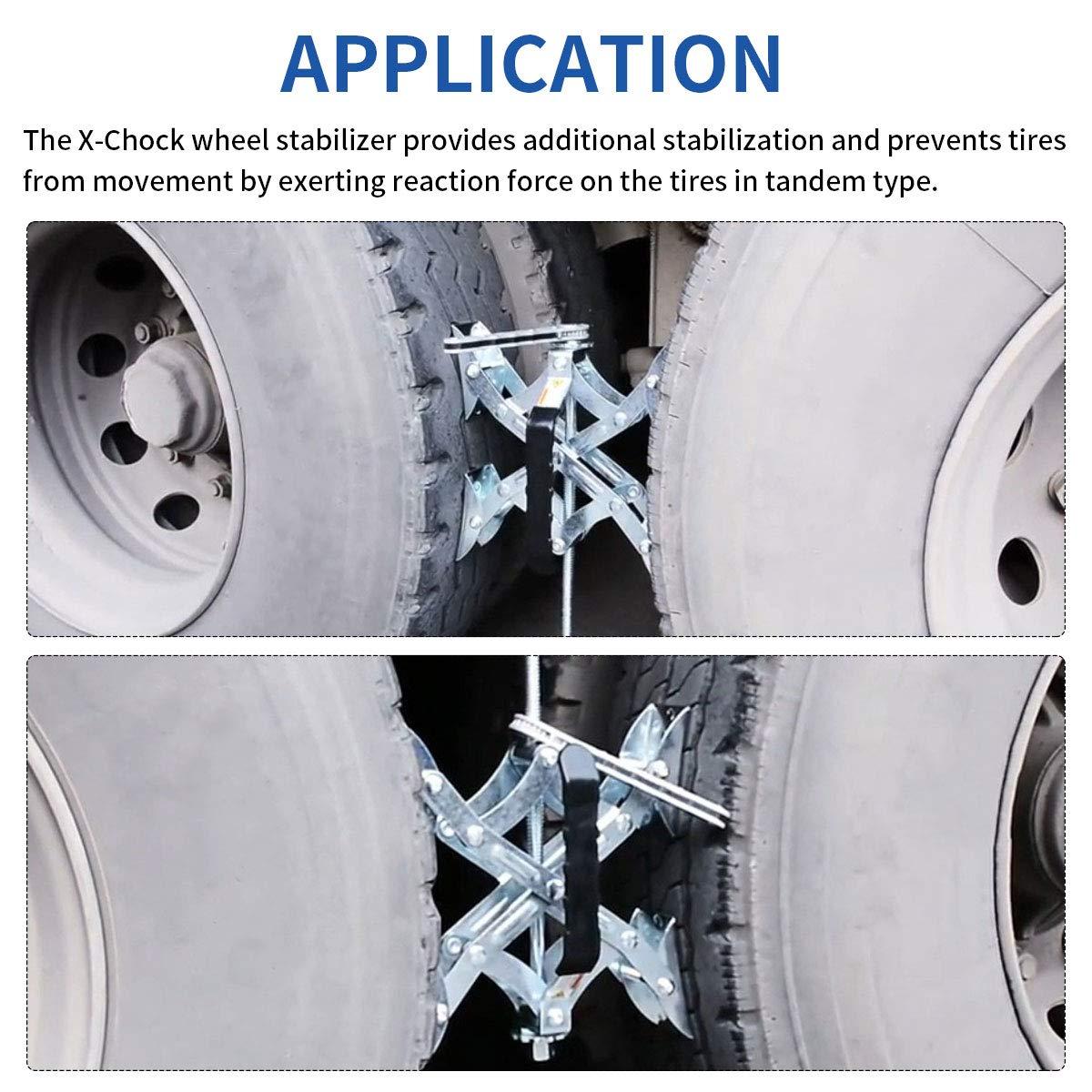 BAL X-Chock Tire Locking Wheel Chock Set Of 2 RV Camper Travel Trailer Cargo NEW