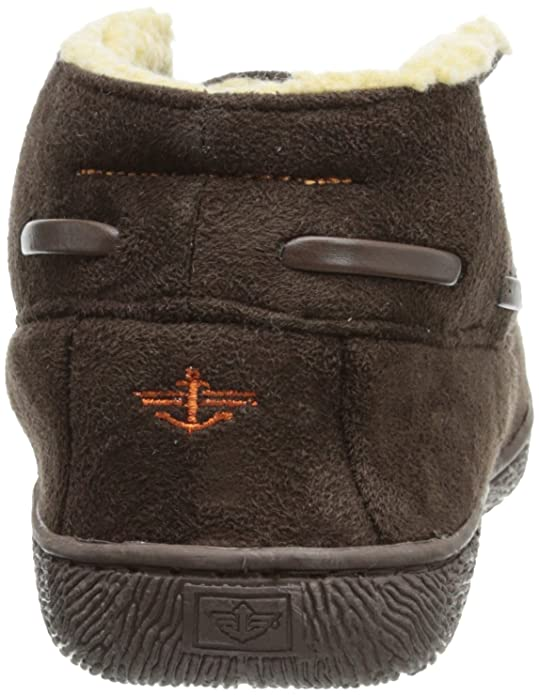 Dockers Men's Slipper Boot with Warm, Synthetic Sherpa Lining