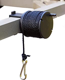 product image for High Point Products Gear Lift Cord for Tree Stand, 25 Feet of Nylon Cord Clamps onto Tree Stand, Fits Square 1-Inch Tubing, Clamps On for Easy Assembly, Hauls Hunting and Archery Gear, Gun and Bow Easily into Tree Stand