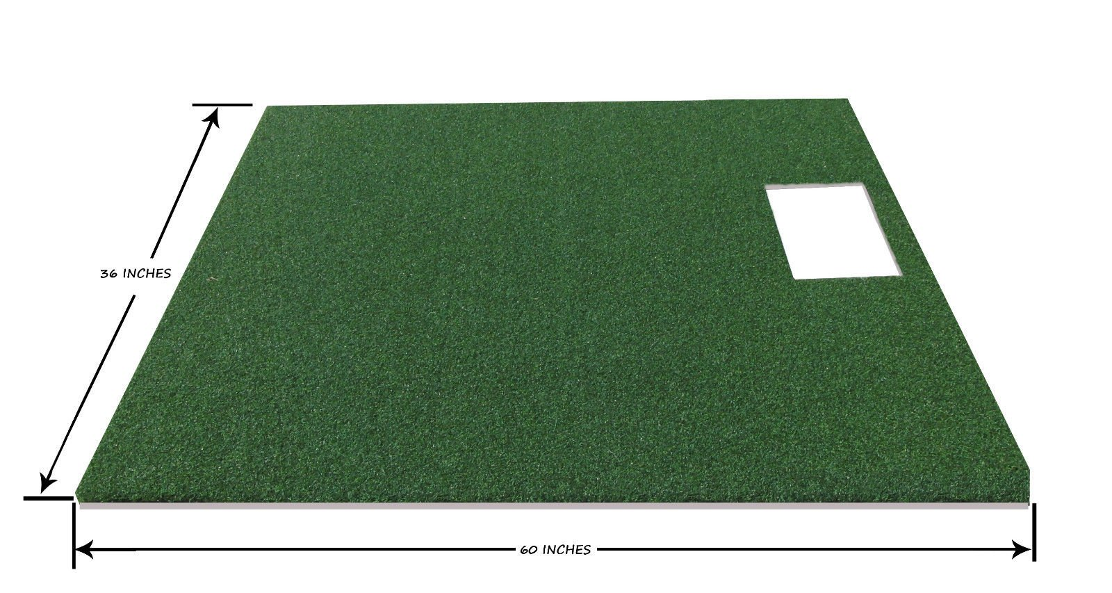 PREMIUM PRO TURF 3' x 5' Full Stance Golf Mat For The OptiShot Golf Simulator- 5mm Foam Backing