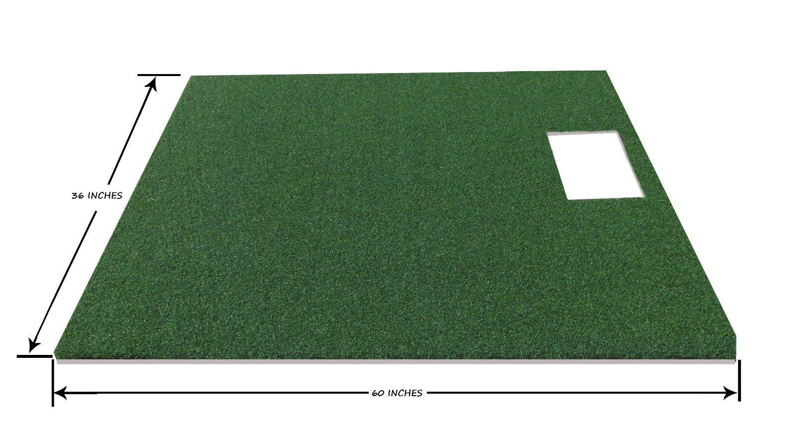PREMIUM PRO TURF 3' x 5' Full Stance Golf Mat For The OptiShot Golf Simulator- 5mm Foam Backing