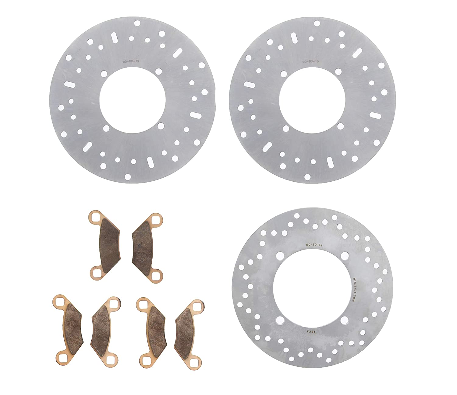 2014-17 Polaris Sportsman 570 Touring Front & Rear Brake Rotors & Brake Pads Race-Driven 4333347626