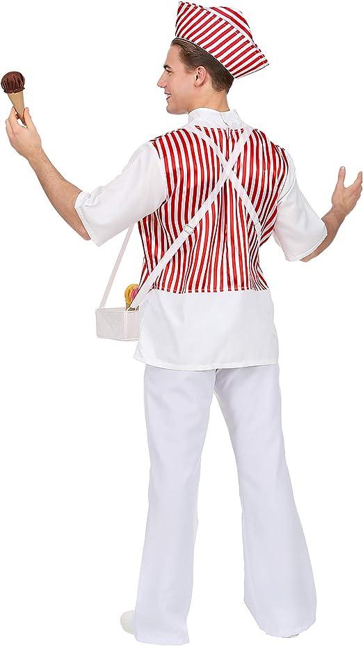 WIDMANN Srl disfraz de helados hombre y adultos, Rojo, wdm68593 ...