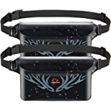 Piscifun Waterproof Pouch with Waist Strap, IPX8 Certified Waterproof Waist Bag, Safety to Keep Your Phone and Valuables - Great as a Waterproof Phone Case or Waterproof Wallet