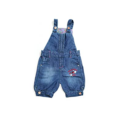 12a7a4461d5 Tales   Stories Baby Girls Denim Designer Dungarees (D.Blue)  Amazon.in   Clothing   Accessories