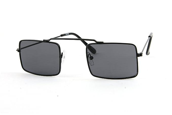 494d144f31 Hippie Retro Square Gothic Vampire Sunglasses P2196 (Black-Smoke Lens)