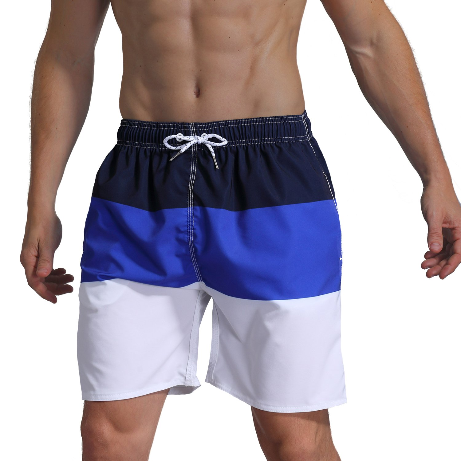 Milankerr Men's Swim Trunk Beach Shorts (L(Waistline:36''-38''), NavyBlue) by Milankerr