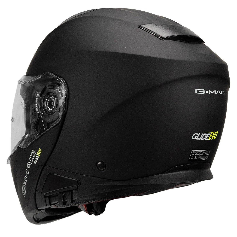 Satin Black G-Mac Glide Evo Flip Front Motorcycle Helmet