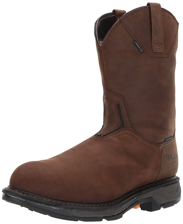 Ariat - Chaussures de Travail Western Workhog XT H2O Carbon Toe Hommes, 49 M EU, Oily Distressed marron