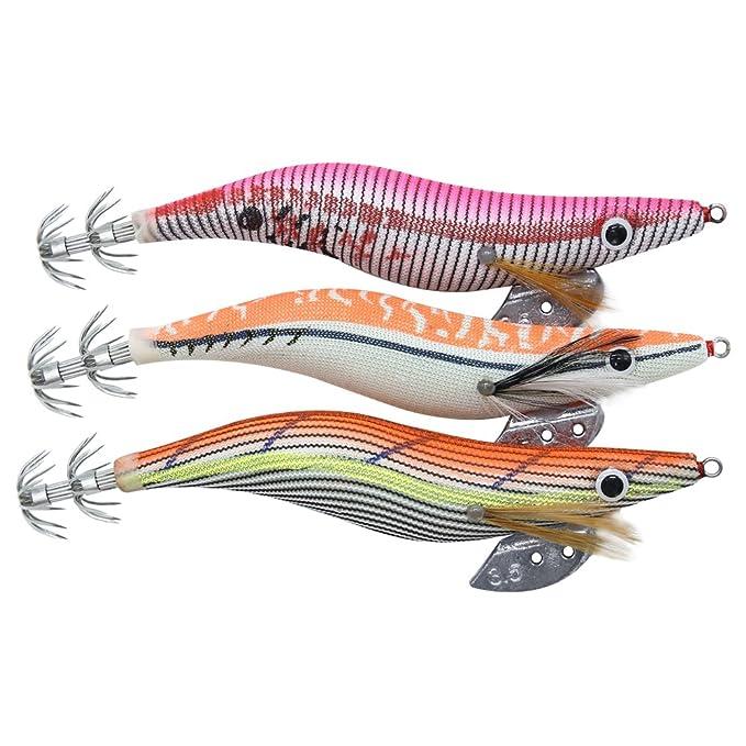 Profesional calamar cebo, 11 piezas Kit señuelo de pesca ...