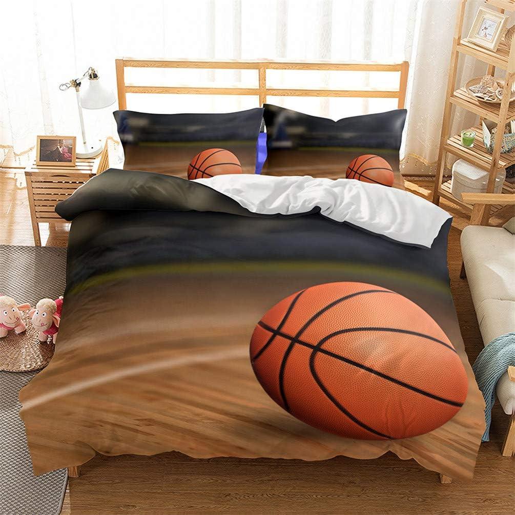 copripiumino + 2 federe Copripiumino e federa pallacanestro sportivo Slam dunk serie 3d Bedding prevenire l umidit/à anallergico double bed single camera da letto tre pezzi lenzuola bedding