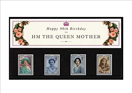 Happy 90th Birthday To HM Queen Mother PRESENTATION PACK Royal Mail Mint British Collector Stamps Noof 4 MNH Guaranteed Brand New