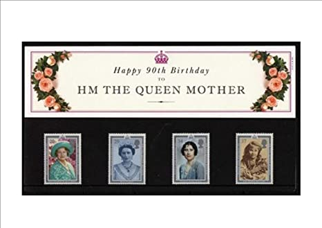 Happy 90th Birthday To HM Queen Mother PRESENTATION PACK Royal Mail Mint British Collector Stamps