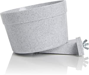 Lixit Quick Lock Dog Cage Bowls (40oz, Granite)