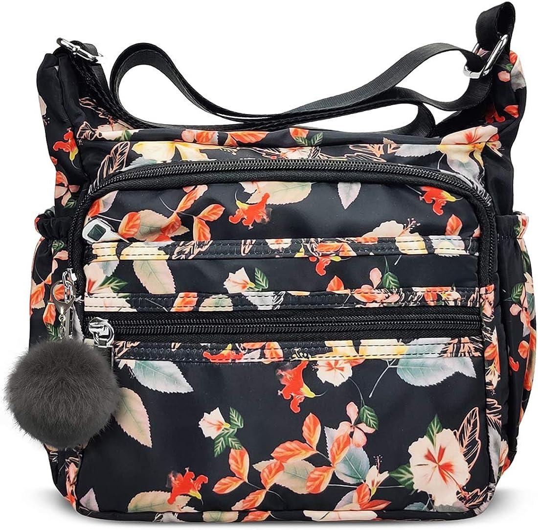 Women's Shoulder Bags with RFID Anti Thief Pocket Casual Handbag Travel Bag Messenger CrossBody Purse for Women