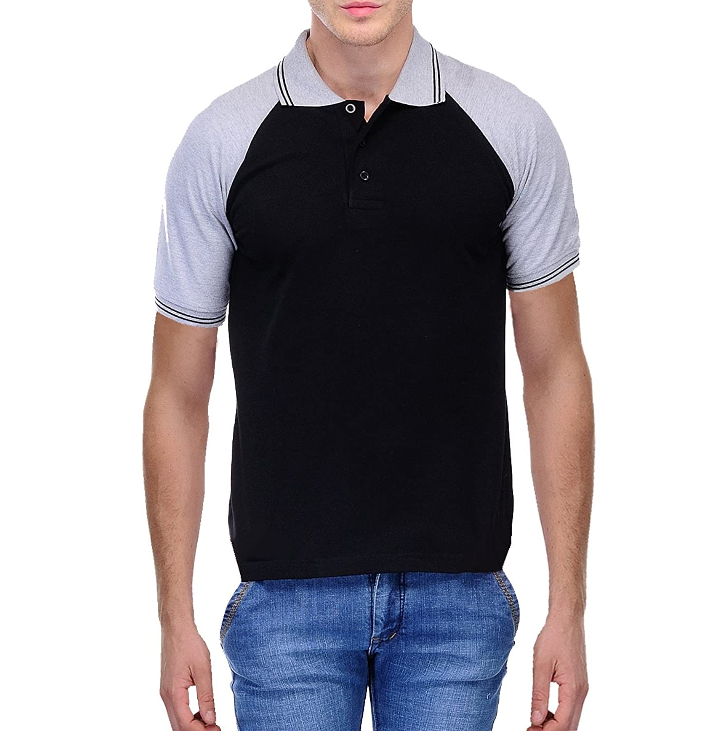 Black t shirt man - Scott Men S Premium Cotton Polo T Shirt Black Amazon In Clothing Accessories