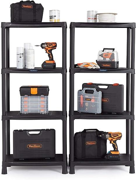 2-Pack 01553V01 5 Shelf Unit Flat Gray Shelves /& Legs