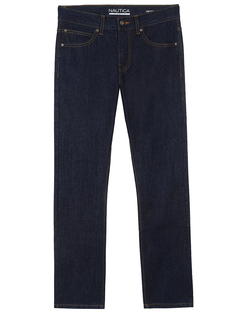Nautica Little Boys' Toddler 5-Pocket Skinny Fit Jeans, Naval Yard, 3T