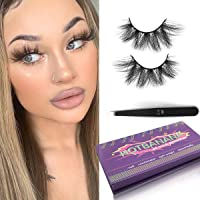 3D Mink Lashes,Eyelashes Mink 20mm Makeup Fake Eyelashes Long Handmade Fluffy Soft Reusable Lashes Mink Eyelashes 1 Pair hotbanana