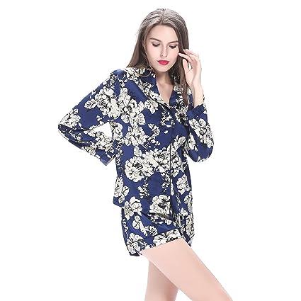 Lilysilk Pijamas de Seda de mujer juego de pantalón corto cuello en V 19 Momme Seda