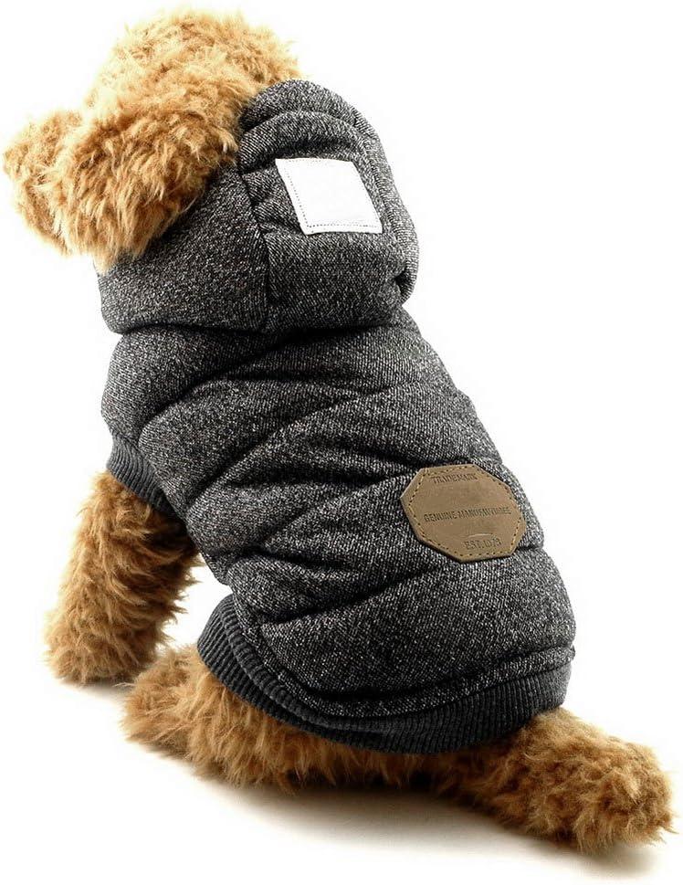 SELMAI Abrigos con Capucha para Perros Pequeños Polar Chaquetas para Perro Mediano Ropa para Gatos Sphynx Grande Mascotas Perritos Chihuahua Caminar Jugar al Aire Libre Prueba de Clima Frío Gris S