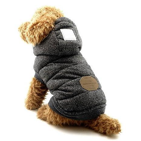 Abrigo con capucha para perros pequeños, de la marca Selmai