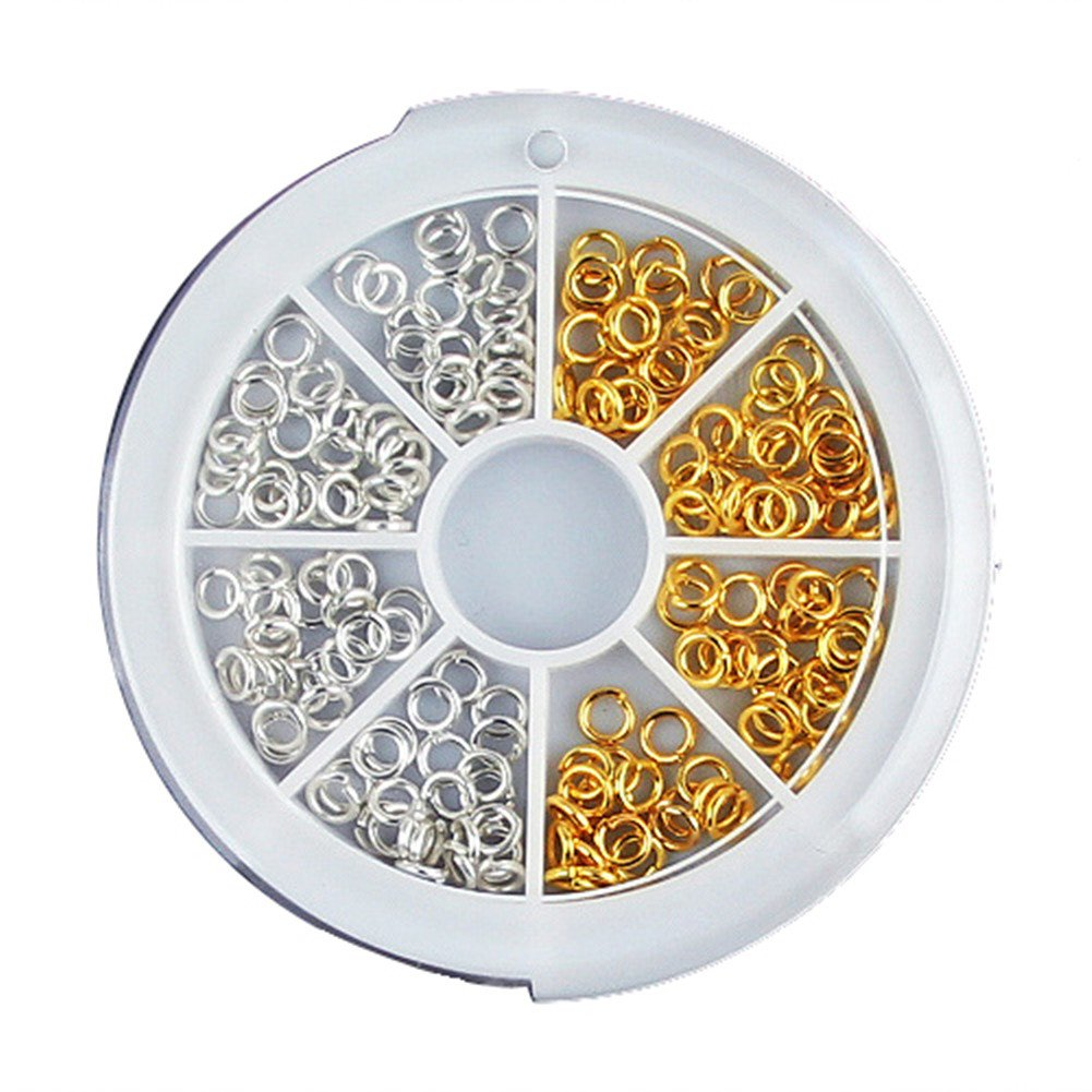 Generic 150Pcs 3.5mm Mini Open Ring Design Stud For Acrylic UV Gel Nail Art by enForten