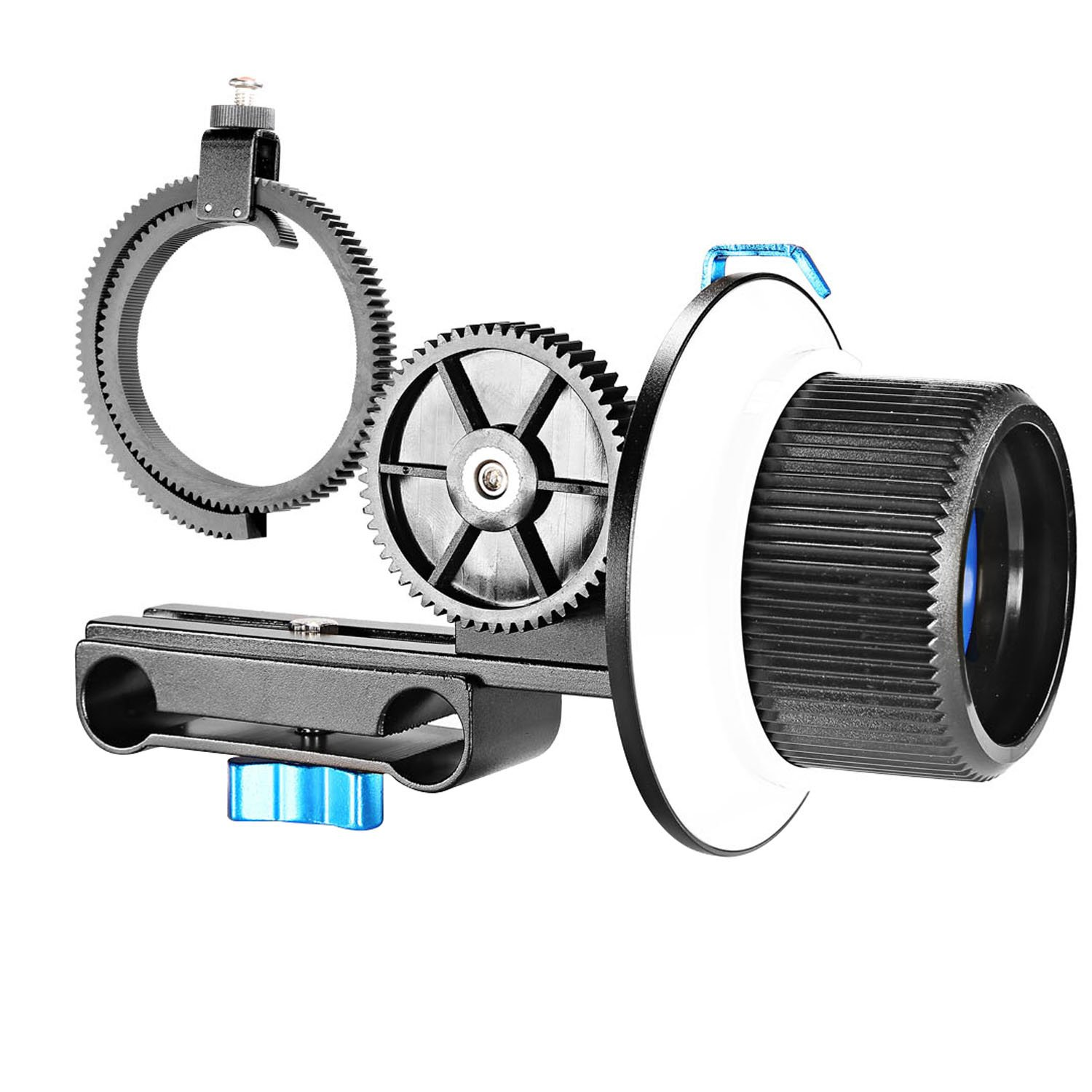 Neewer® Follow Focus with Adjustbale Gear Ring Belt for DSLR Cameras Such as Nikon, Canon, Sony/DV/Camcorder/Film/Video Cameras, Fits Shoulder Supports, Stabilizers, Movie rigs, All 15mm Rod Mounts FBA_10085709