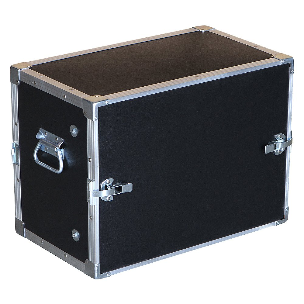 8 Space 8u 9 3/4 Deep Economy Flat Lids 1/4 Ply Light Duty ATA Style Compact Rack Case Roadie Products Inc.