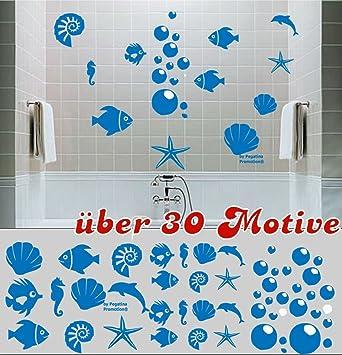 Großartig Set 30 Stk. U0026quot;Badezimmer Aufkleberu0026quot; Wandtattoo Fliesentattoo Im  Mix 10   3