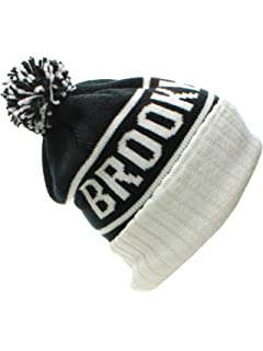 American Cities USA Favorite City Cuff Cable Knit Winter Pom Pom Beanie Hat  Cap 60865951ad20