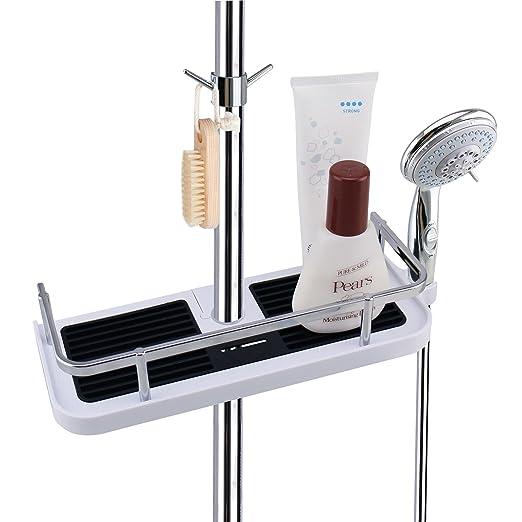 Duschstangen Ablage Badezimmer Dusche Rack Verstellbar Hohe Kein