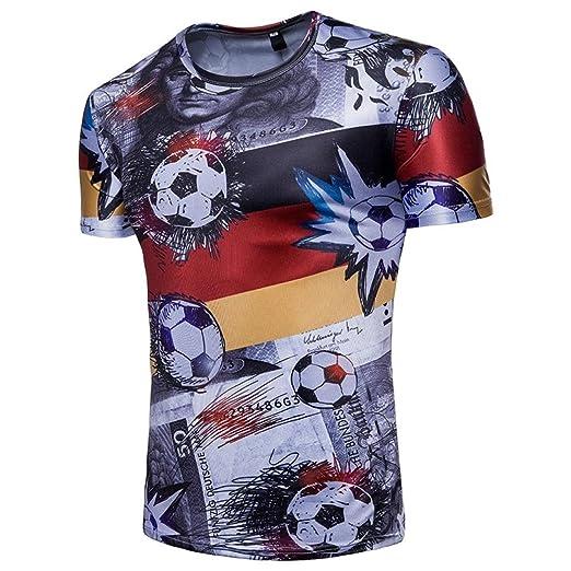 SUKEQ Men Boys 2018 FIFA World Cup Germany Deutschland Soccer T-shirt Short Sleeve Printed Germany National Flag T-shirt Soccer Football Shirt