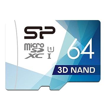 Silicon Power - Tarjeta de Memoria microSDHC UHS-1 (64 GB ...
