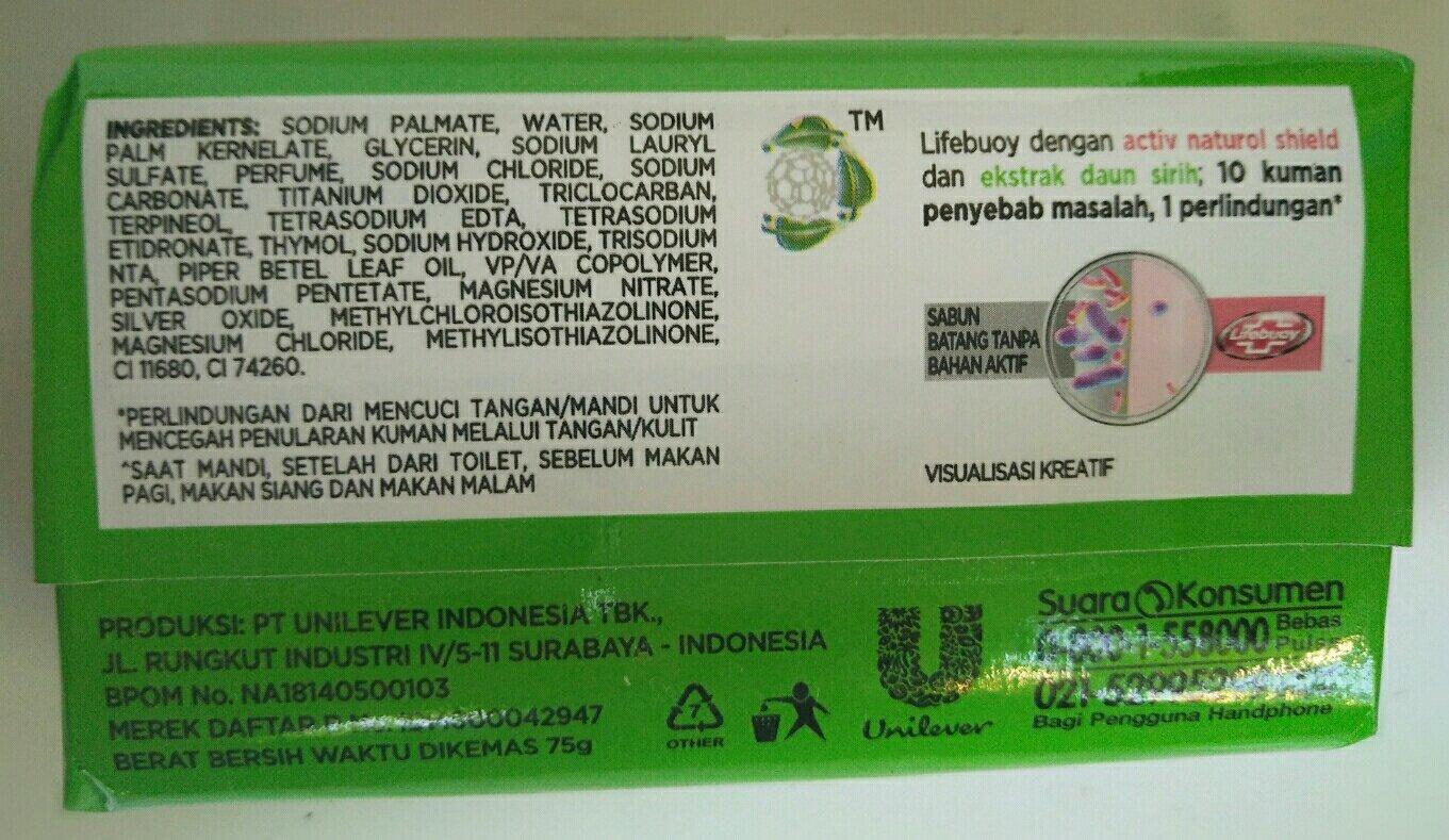 Lifebouy Nature Pure Antibacterial Bar Soap 85 Gram Safety Boot Bahan Kulit Asli Home Made Indonesia Beauty